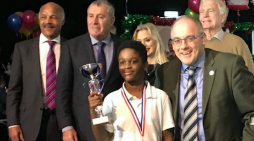 Robert Halfon joins sporting legends to present awards to Harlowfields pupil