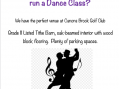 Canons Brook is a perfect venue for a dance class