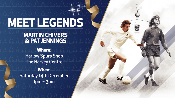 Spurs legends Martin Chivers and Pat Jennings to come to Harvey Centre