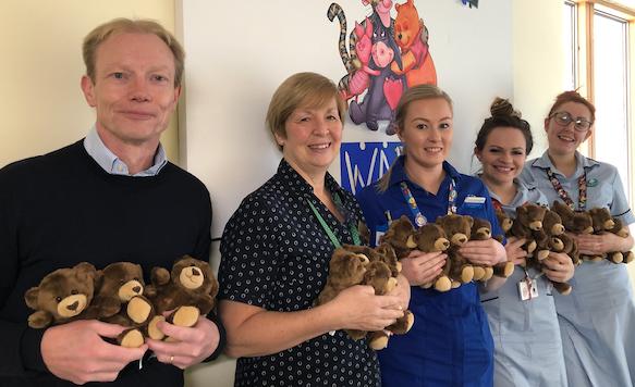 Harlow company kindly donates teddy bears to children at Princess Alexandra Hospital