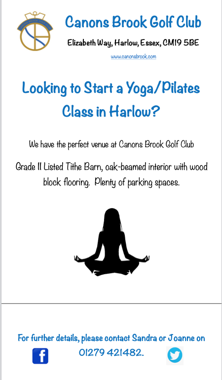 Why not hold your Yoga/Pilates classes at Canons Brook Golf Club?