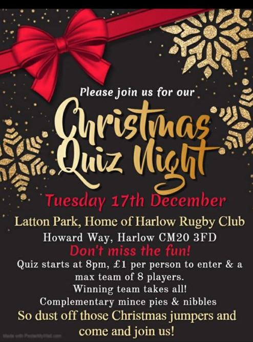 Christmas Quiz Night at Latton Park