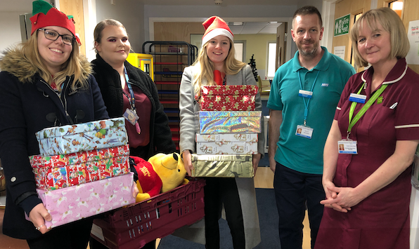 Stansted Airport team bring Christmas gifts to PAH patients