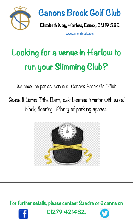 Looking for a venue to host your slimming club?