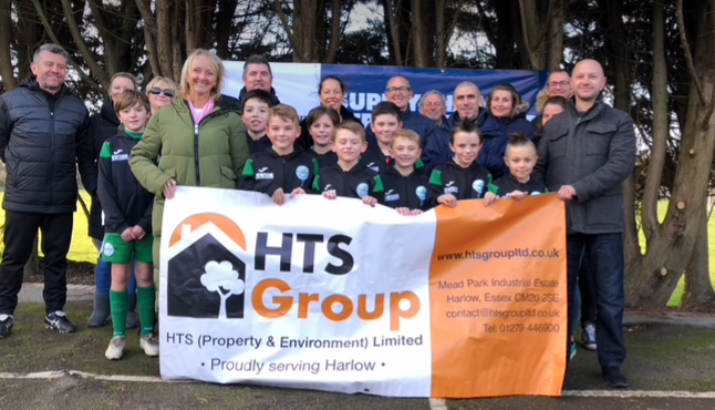 HTS Harlow and Jewson sponsor Paringdon Youth football team