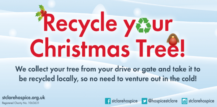 St Clare Hospice will collect your Christmas tree for recycling