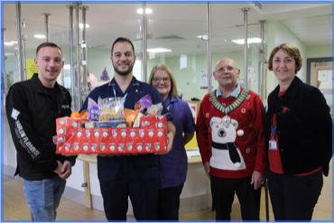 Harlow Council and Harlow Playhouse donate festive treats for dedicated Emergency Department