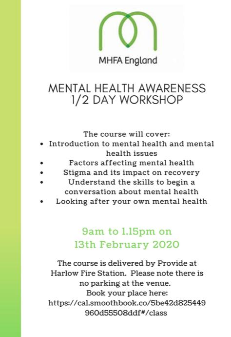 Rainbow Services to host Mental Health workshop