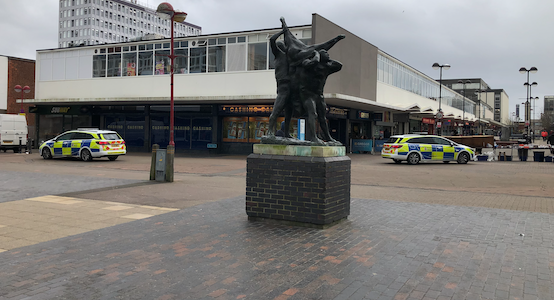 Police called after report of large disturbance in town centre at lunchtime