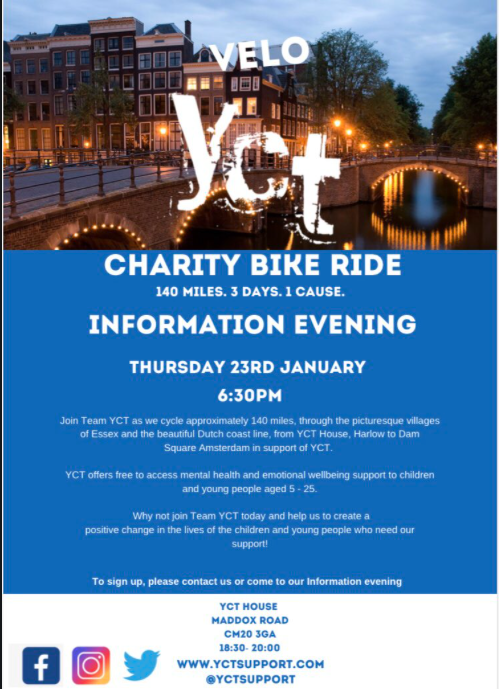 Young Carers Trust (YCT) set to take on charity bike ride to Amsterdam