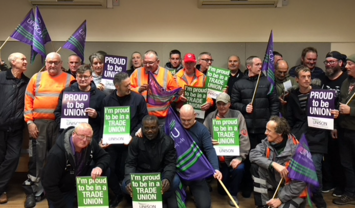Harlow Labour group leader to meet with Unison to support and listen to complaints of refuse workers against Veoila