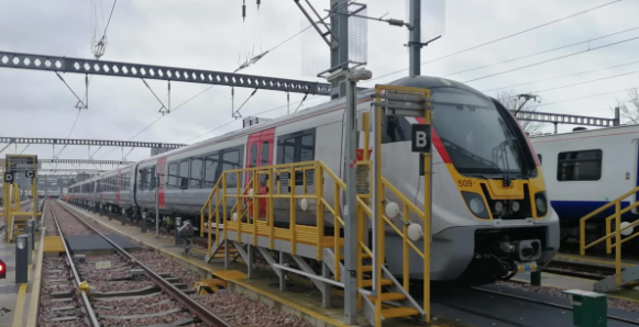 First of Greater Anglia's new Bombardier electric trains has now arrived in region