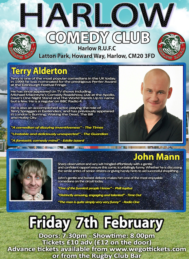 Latton Park: Harlow Comedy Club returns in February