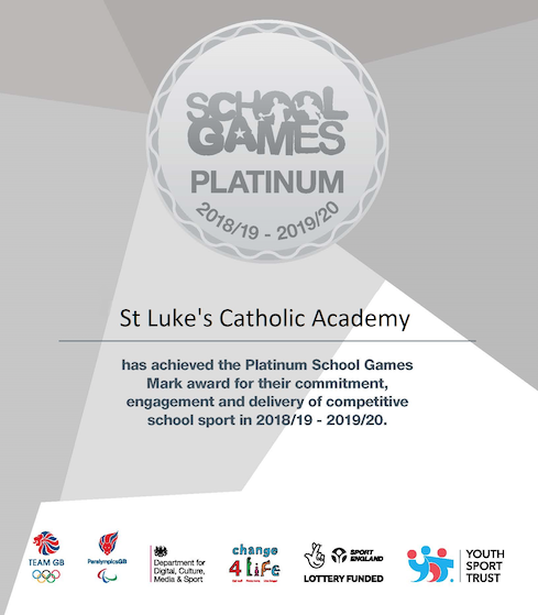 St Luke's Catholic Academy awarded prestigious sports award