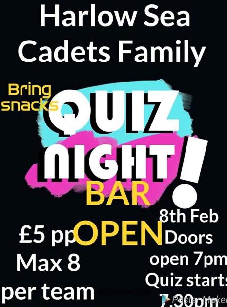 Harlow Sea Cadets to host Quiz Night