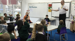 Cooks Spinney pupils learn about fire hazards in home
