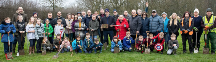 Annual tree planting in Harlow reaches record high