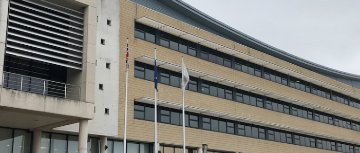 EU flag to be lowered from outside the Harlow Council building