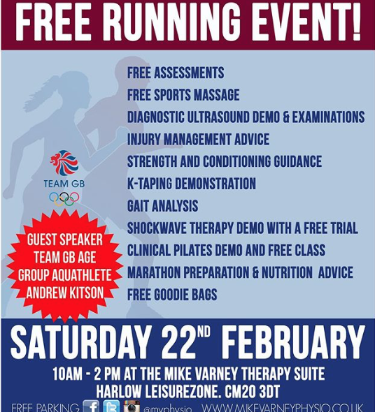 Mike Varney Physio to host free running advice clinic