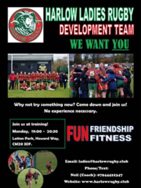 Rugby: Join the Harlow Ladies Development Team