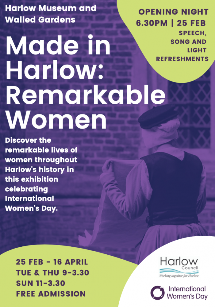 Made in Harlow: Remarkable Women exhibition set for Harlow Museum