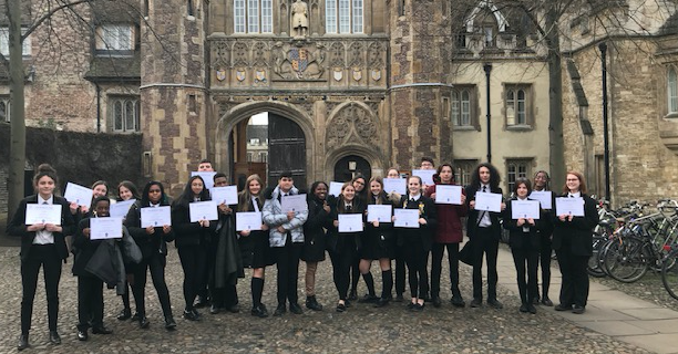 Record number of Stewards Academy pupils graduate from Scholars Programme at Cambridge University.