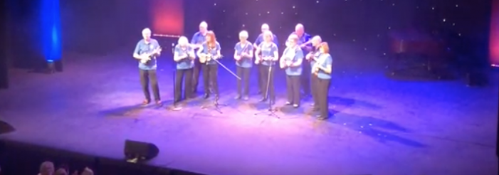 Celebrate Harlow 2020: Phoenix Ukulele Band rock Harlow Playhouse