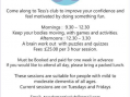 Come and Join Tess' Dementia Club