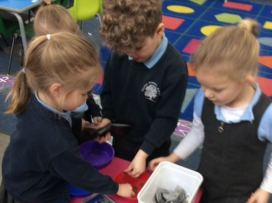 Four-year-olds gain independence at Roydon Primary