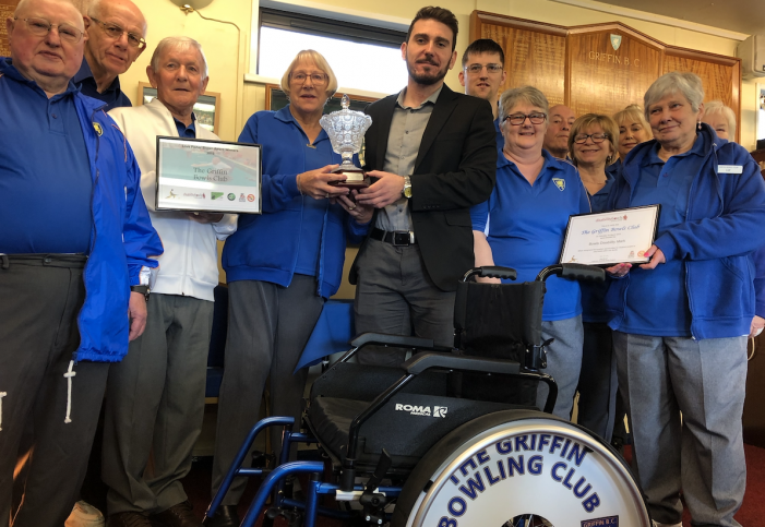 Griffin Bowls Club given prestigious award for outstanding work in the community