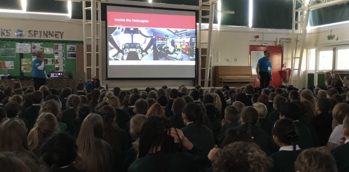 Cooks Spinney pupils learn about the Essex Air Ambulance