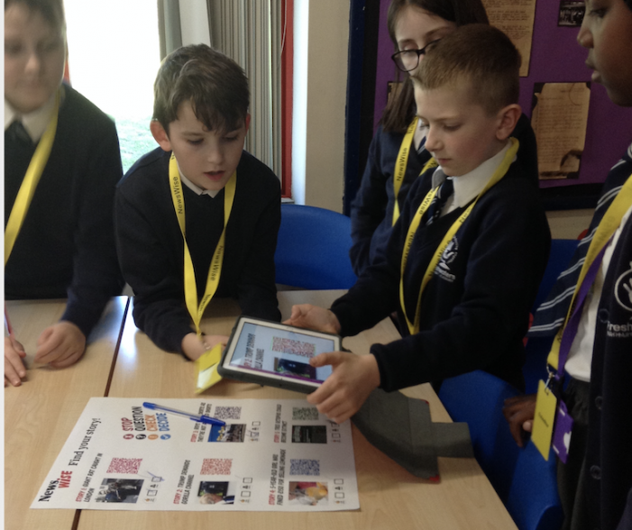 Freshwaters Primary Academy work with national newspaper