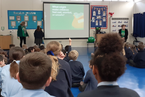 """Roydon Primary Academy students encouraged to """"Speak out, stay safe""""."""