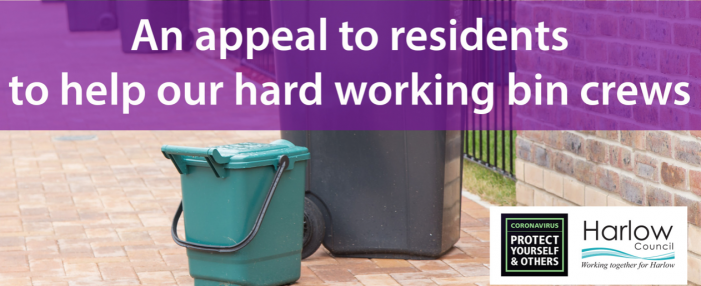 Harlow Council's appeal to residents to help the town's hard working bin crews