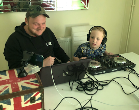Seven-year-old Sonny puts on virtual disco for friends