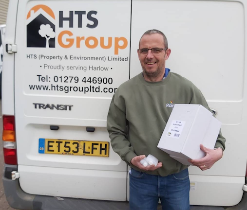 HTS distribute personal protection equipment to key workers in Harlow