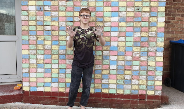 """Passmores student George creates a """"Wall of Hope"""""""