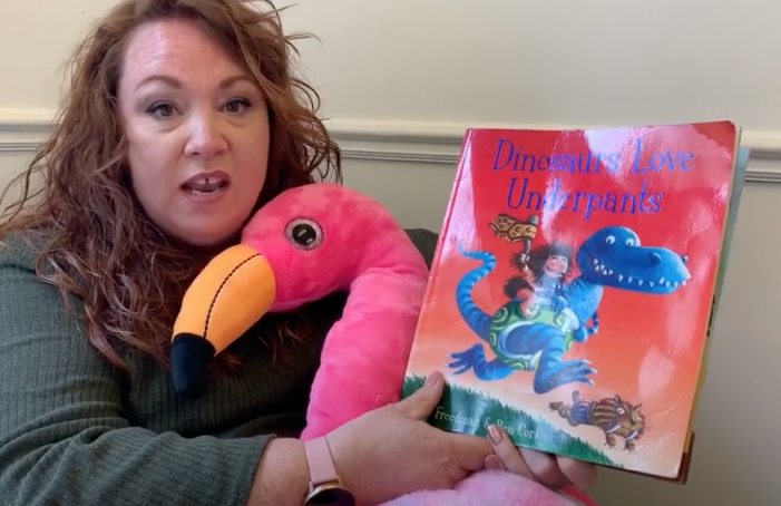 Katherines Primary tell us why Dinosaurs Love Underpants
