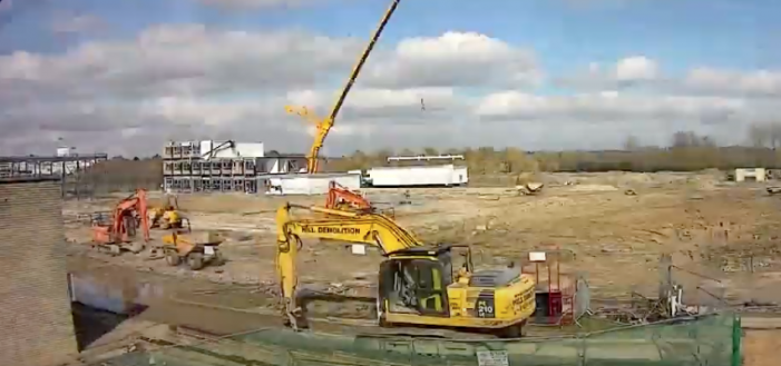 Amazing time lapse shows progress at Sir Frederick Gibberd College