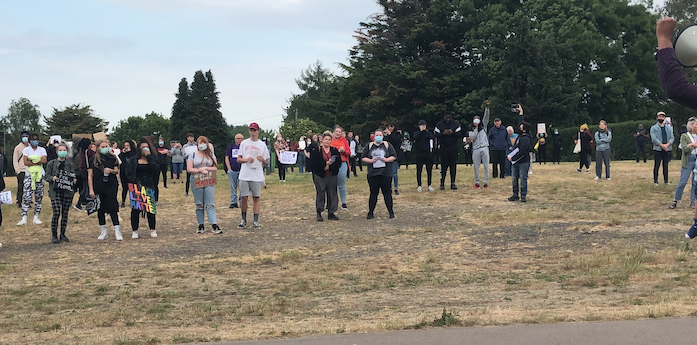 Hundreds attend Black Lives Matter demonstration in Harlow