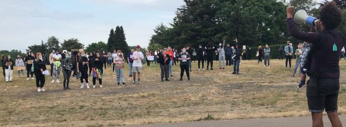 Hundreds attend Black Lives Matter demonstration in Harlow