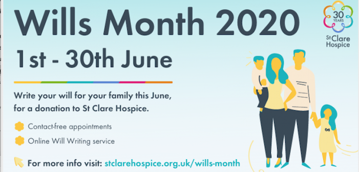 Look after the ones you love, and St Clare Hospice, this Wills Month