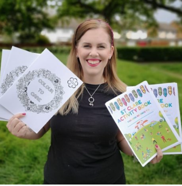 St Clare Hospice work with local artists to launch colouring books