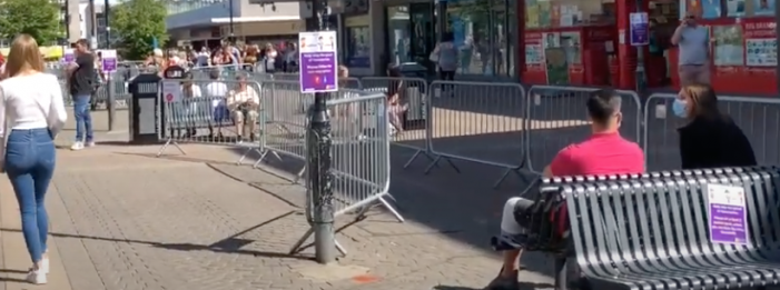 Teenager charged for riding bike in town centre