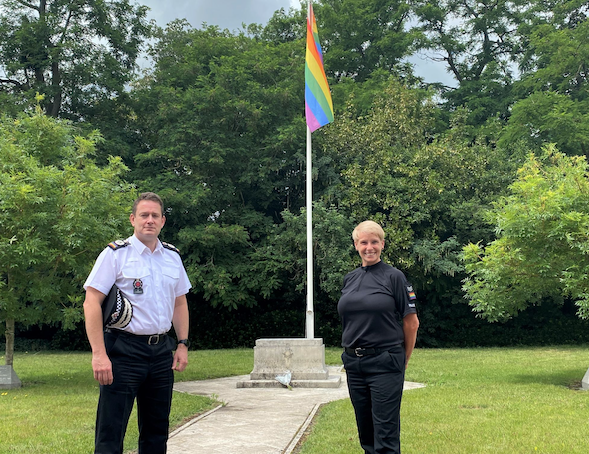Pride flag flies high at Essex Police headquarters