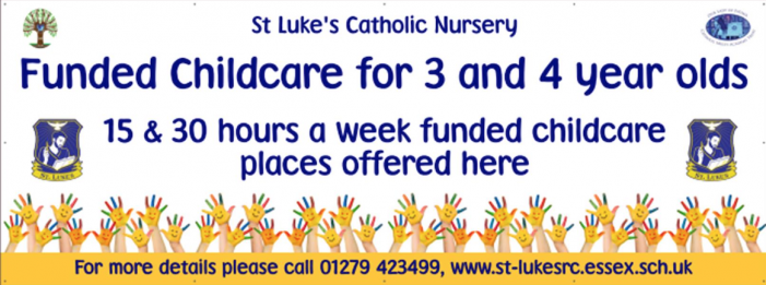 Places available at St Luke's Catholic Nursery