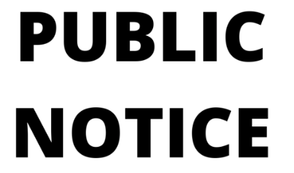 Public Notice: Goods Vehicle Operator's Licence