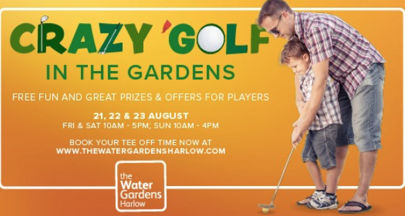 Crazy Golf is coming to The Water Gardens!