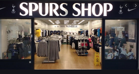 Revised opening hours for Spurs shop in the Harvey Centre