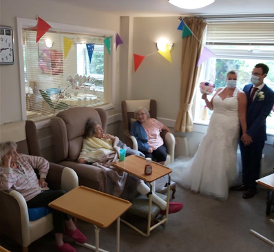 Ashlyn Care Home celebrates with newlyweds James and Nicky